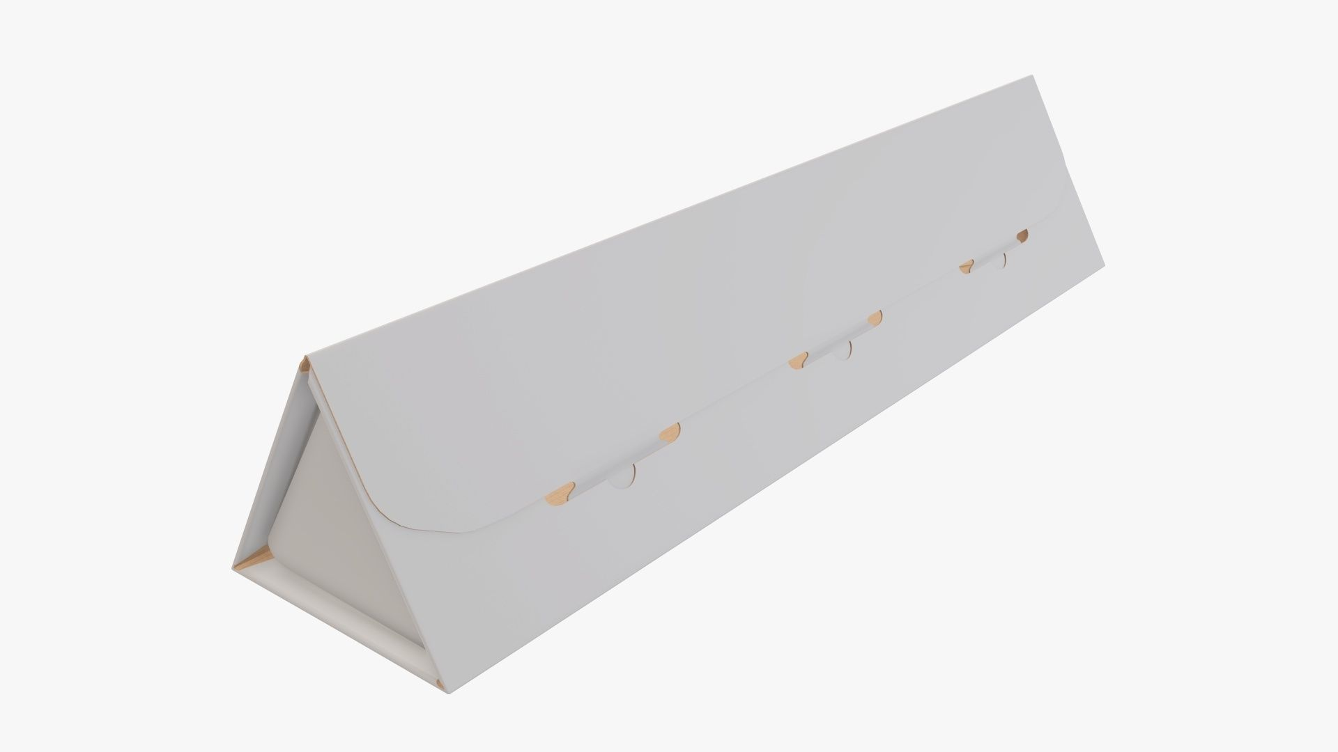 Cardboard tube box triangular