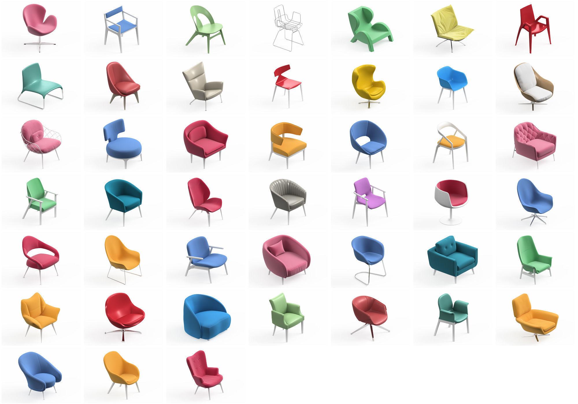 Armchair Modern Collection 45x