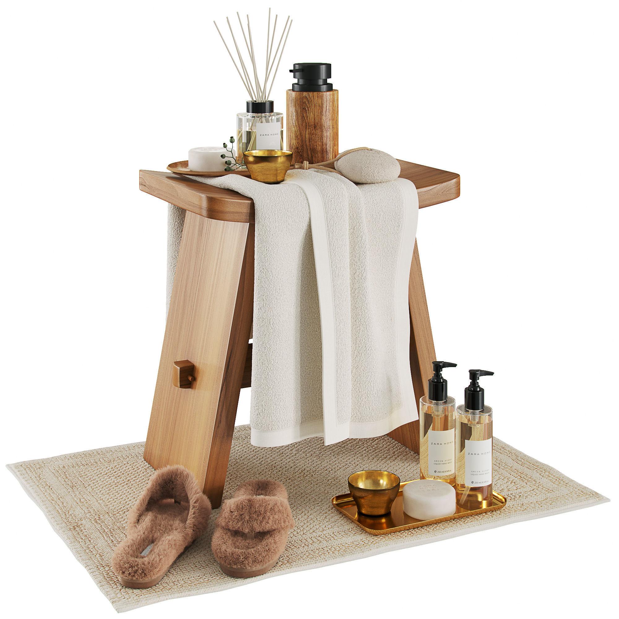 Zara home wood stool