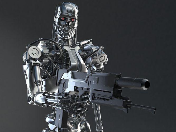 terminator t-800 3d model rigged max obj mtl 3ds fbx c4d lwo lw lws 1