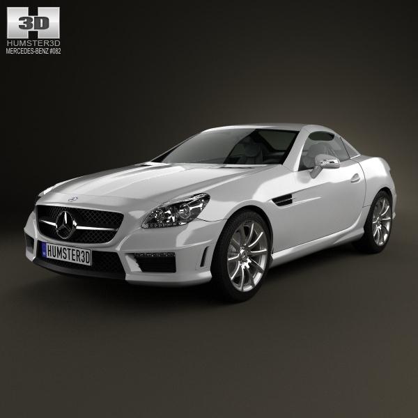 Mercedes benz slk class 55 amg 2012 3d model max obj 3ds for Mercedes benz 2012 models