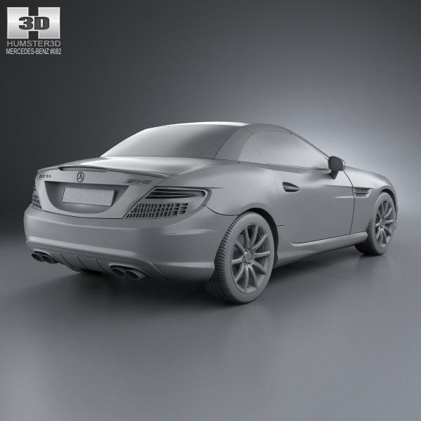 Mercedes-Benz SLK-class 55 AMG 2012 3D Model MAX OBJ 3DS