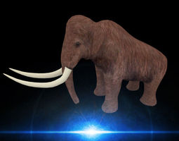 game-ready mammoth 3d model
