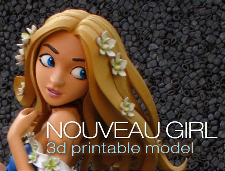 Nouveau Girl - 3D Printable Model