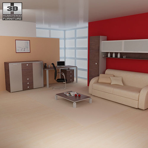 3d model living room furniture 10 set cgtrader for New model living room furniture