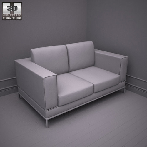 ikea arild two seat sofa 3d models. Black Bedroom Furniture Sets. Home Design Ideas