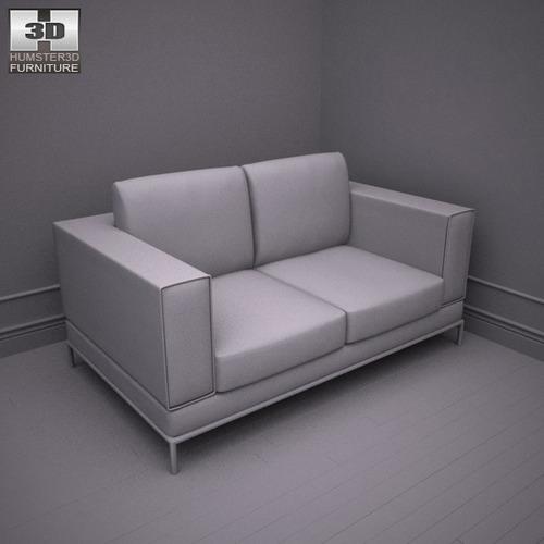 ikea arild two seat sofa 3d models. Black Bedroom Furniture Sets. Home Design Ideas
