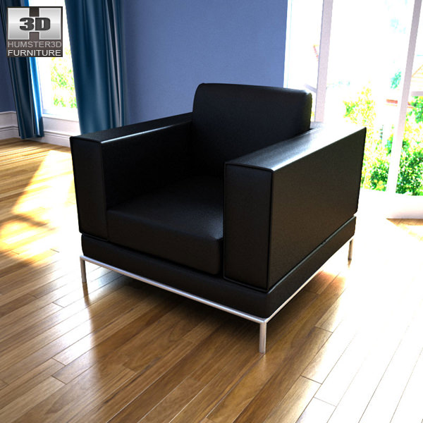 ikea arild armchair 3d model game ready max obj 3ds fbx. Black Bedroom Furniture Sets. Home Design Ideas