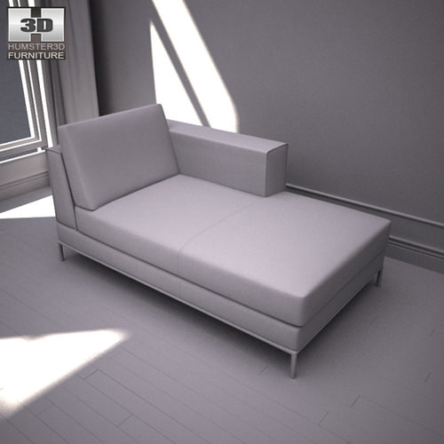 Ikea arild chaise longue 3d model game ready max obj - Chaise longue exterieur ikea ...