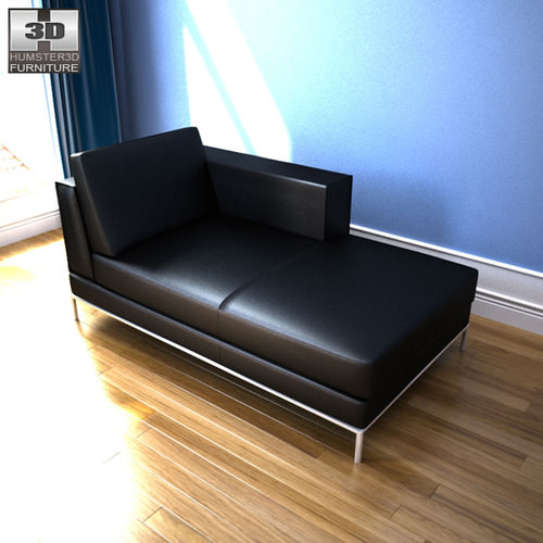ikea arild chaise longue 3d model game ready max obj 3ds fbx. Black Bedroom Furniture Sets. Home Design Ideas