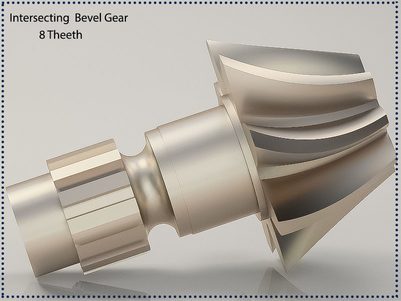 Original sizes  Helical  Bevel Gear 8 Theeth 3D print model