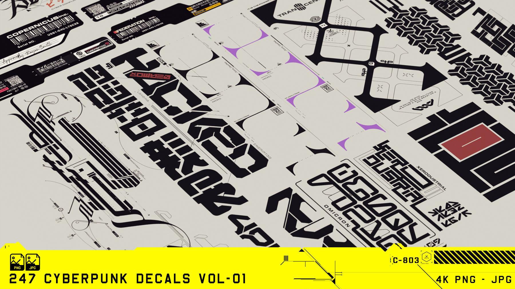 Cyberpunk Decals Vol-01