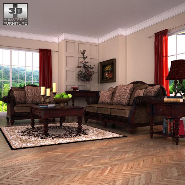 Ashley Livingroom Key Town 3d Model Low Poly Max Obj Mtl 3ds Fbx C4d Lwo ...