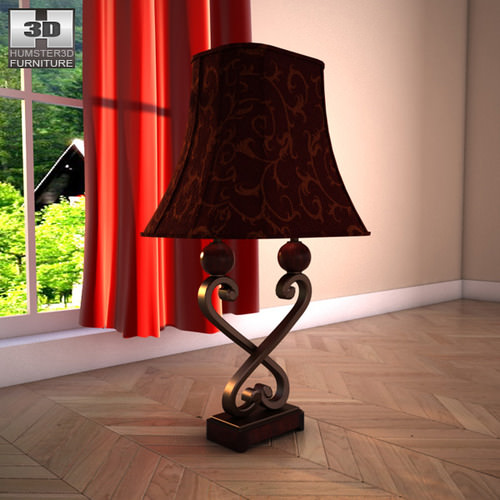 Ashley Key Town Table Lamp3D model