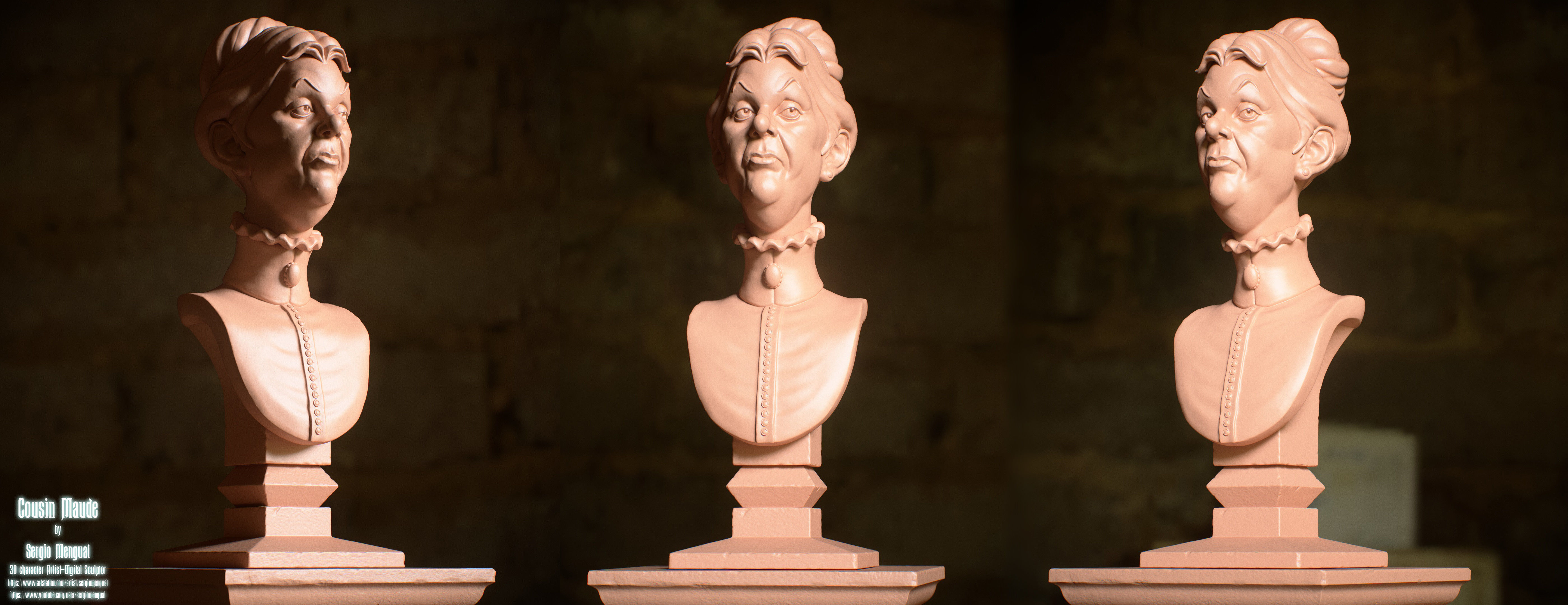 Haunted Mansion Cousin Maude  3D Printable Bust