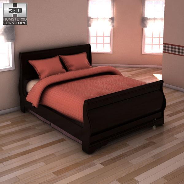 Ashley Huey Vineyard Sleigh Bedroom Set 3D Model Game