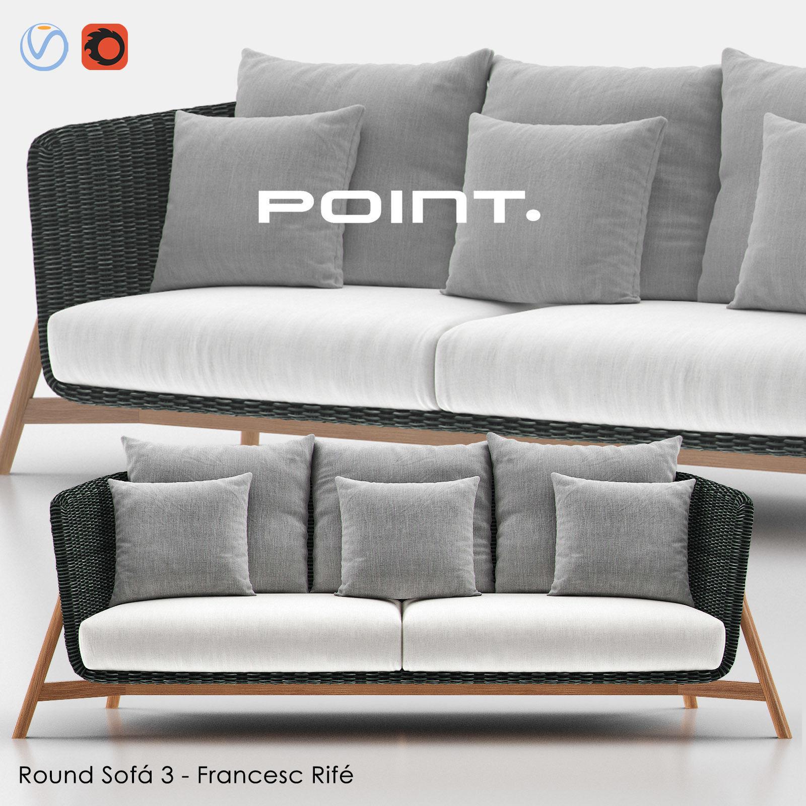 Round Sofa 3 - Point