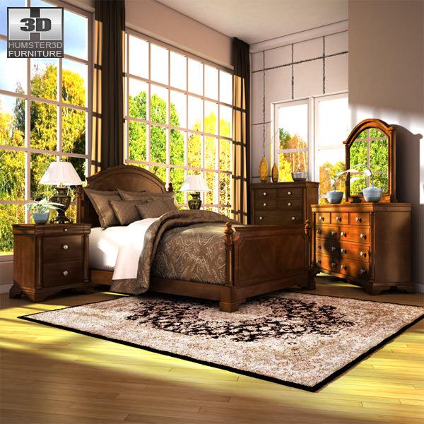 ashley leighton poster bedroom set 3d model max obj 3ds fbx mtl 1