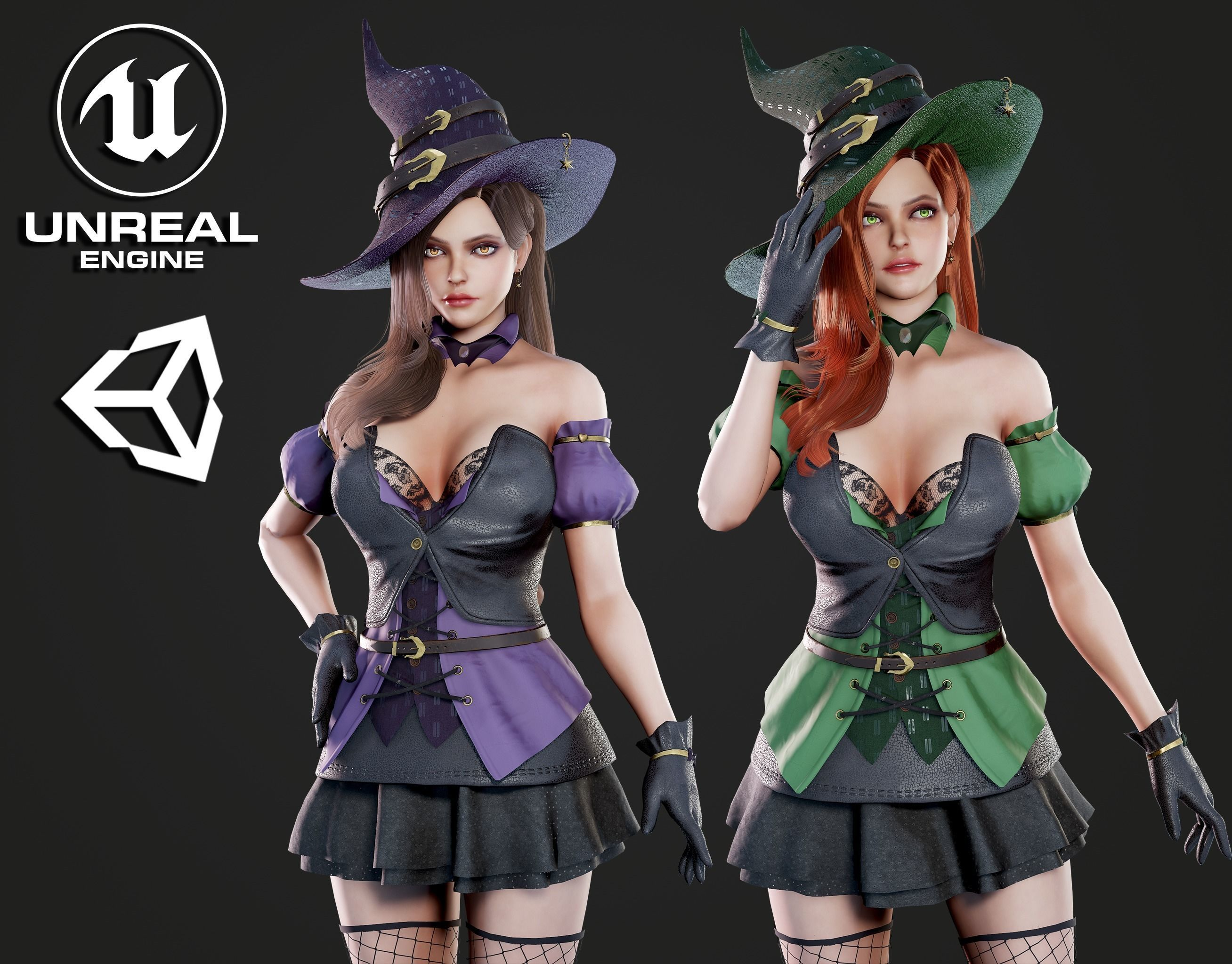 Witch - Game Ready