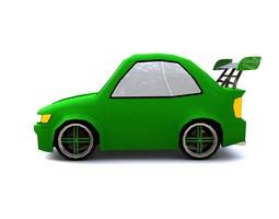 Low-poly Cartoon Car 3D Model