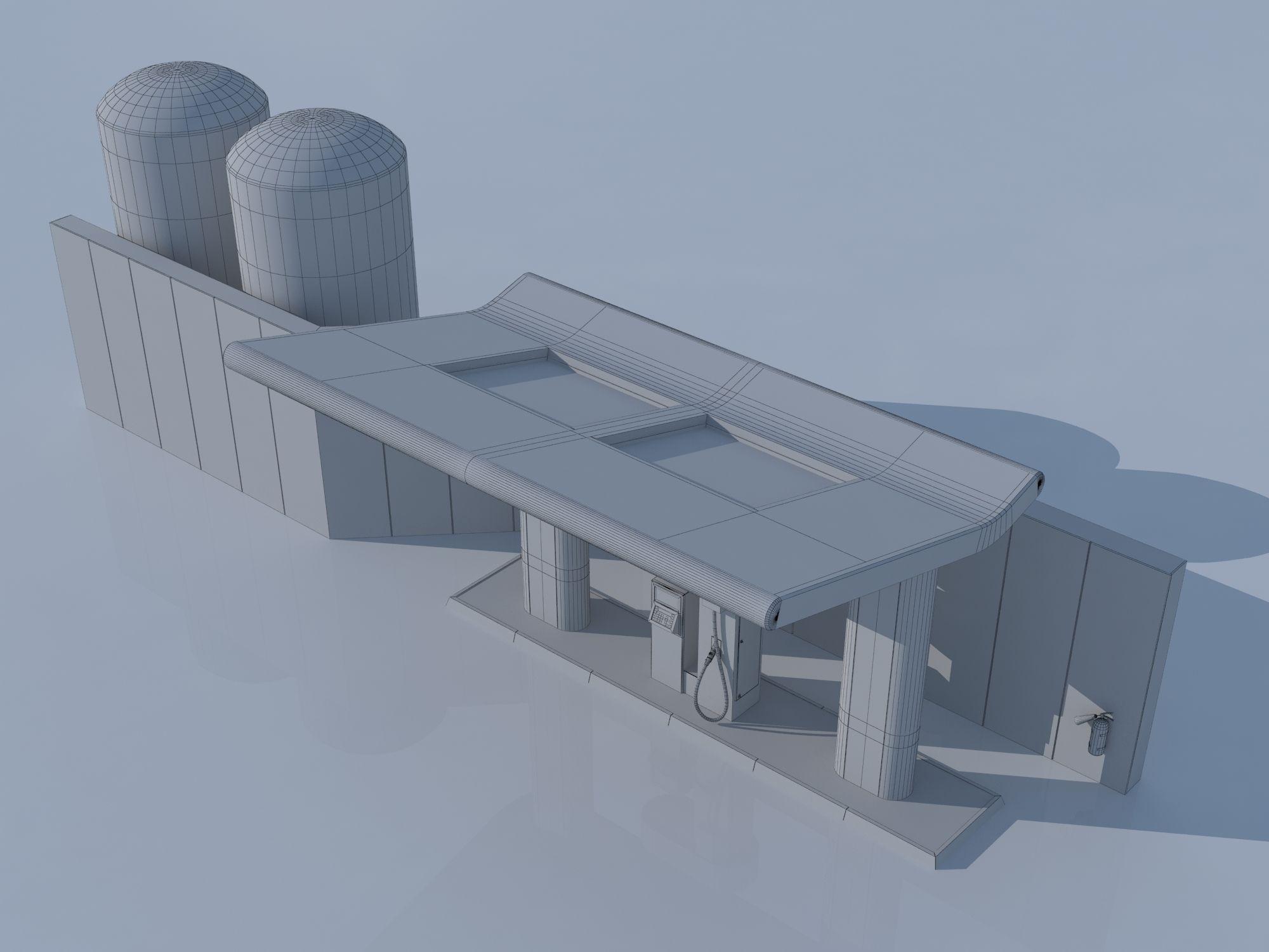 hydrogen gas station 3d model cgtradercom