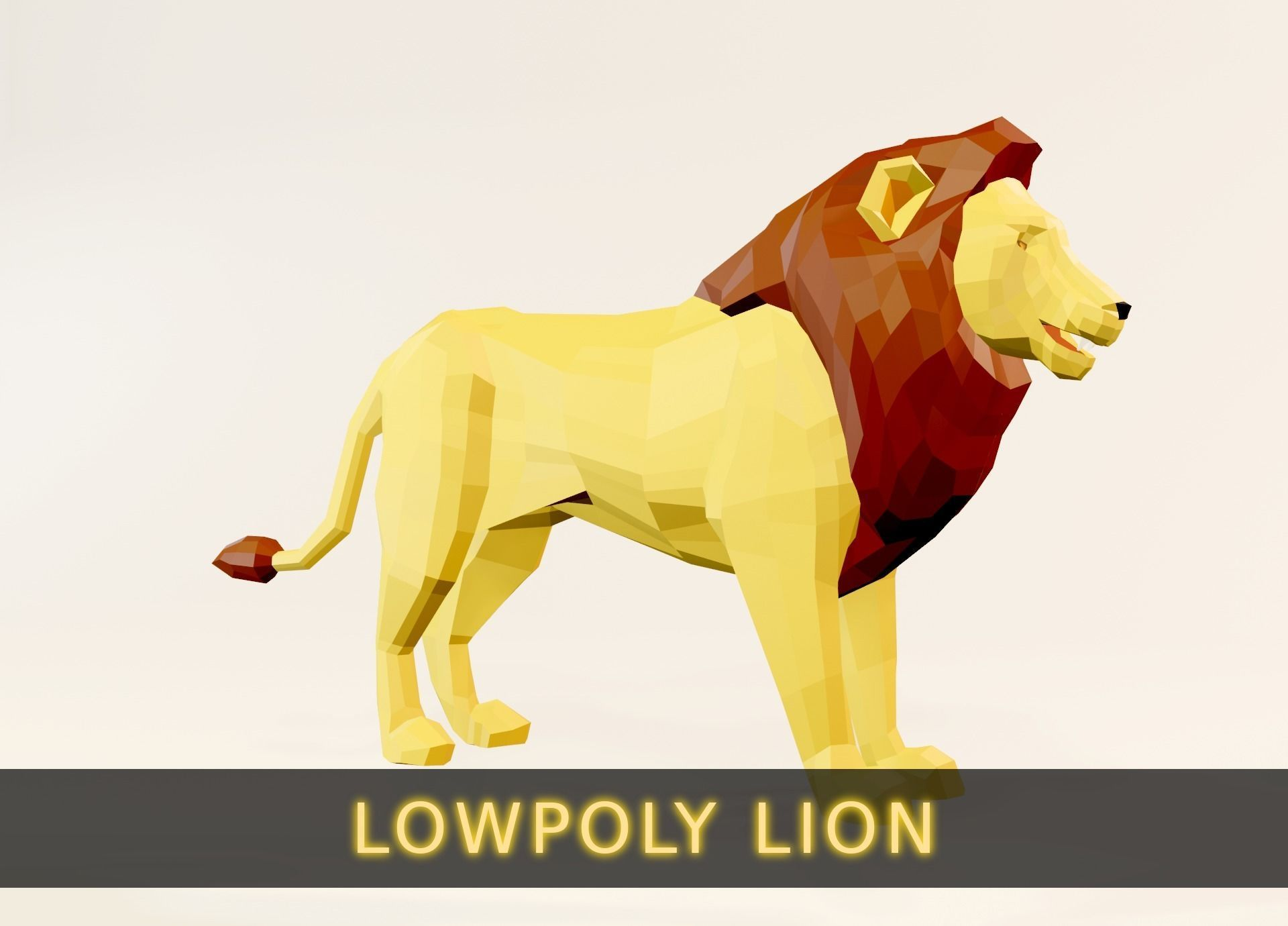 Lowpoly Animated Lion