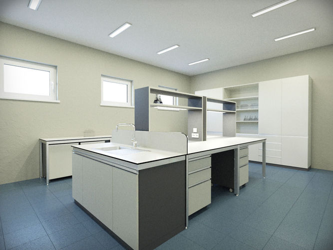 laboratory 3d model max fbx 1