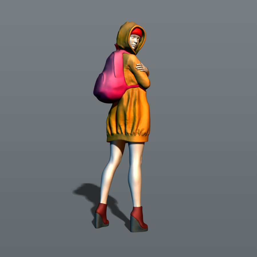 Girl with a knapsack