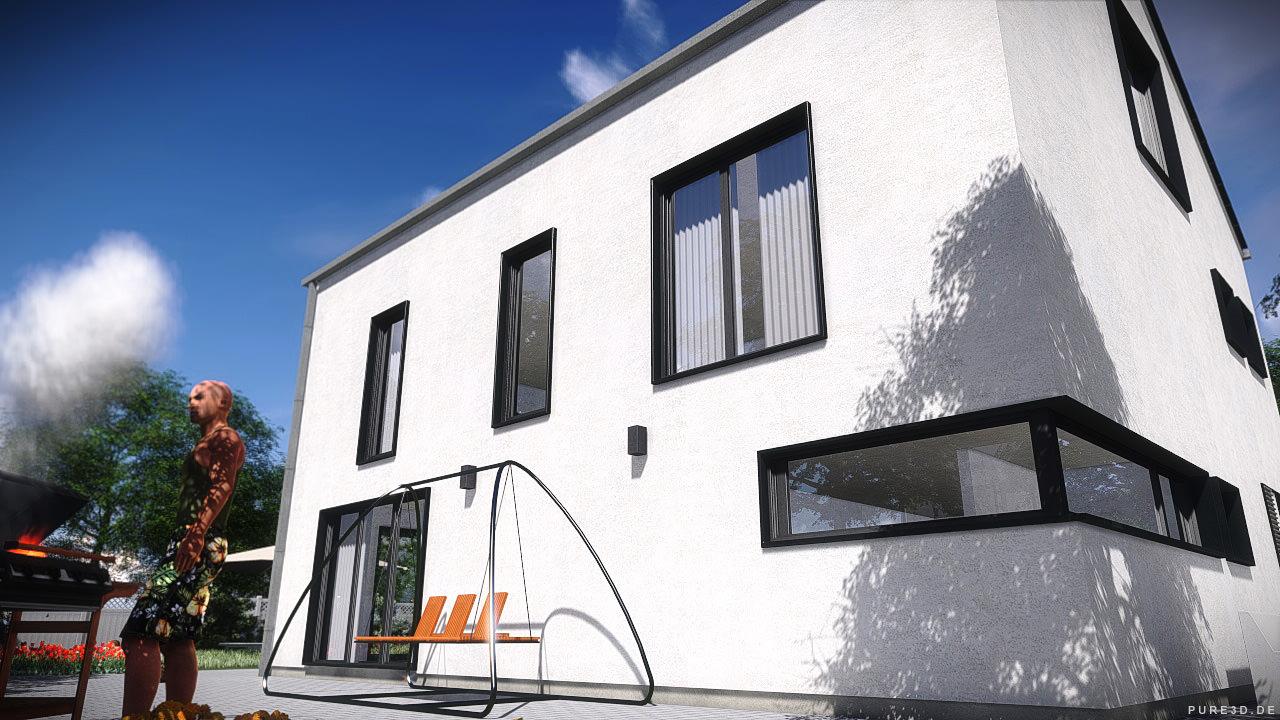 3D model House 1 - Modern ity Villa V / / low-poly M OBJ ... - ^