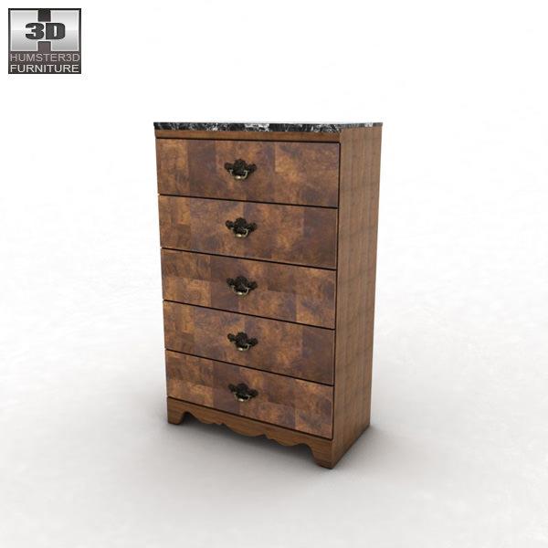 Ashley buckingham panel bedroom set 3d model game ready for Buckingham choice floor plans