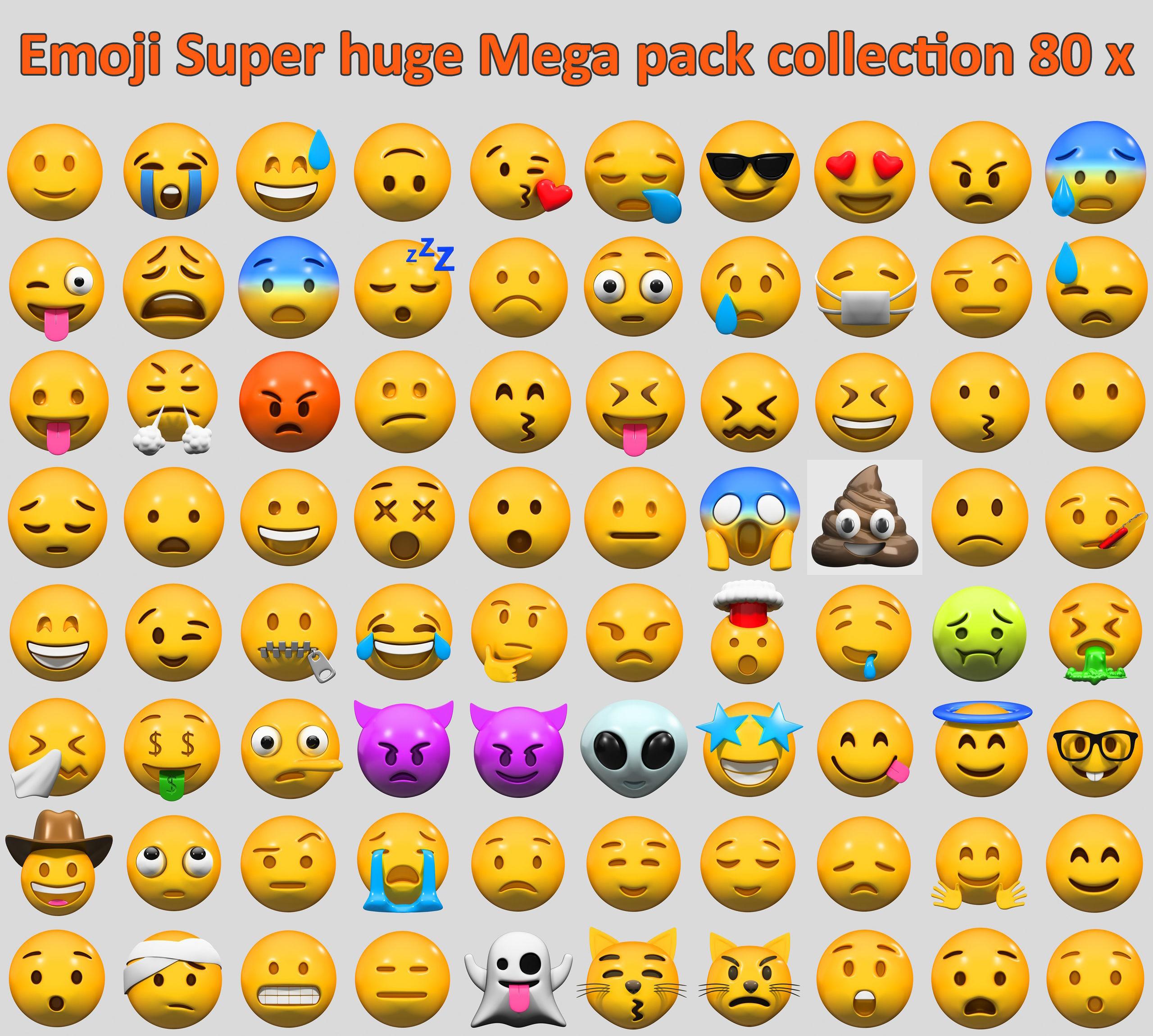Emoji Super huge Mega pack collection 80 x