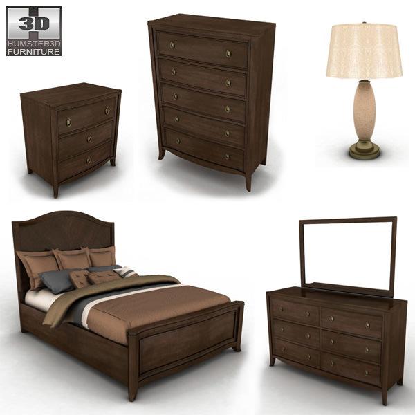 Ashley Ashlyn Sleigh Bedroom Set 3D Model Game ready x