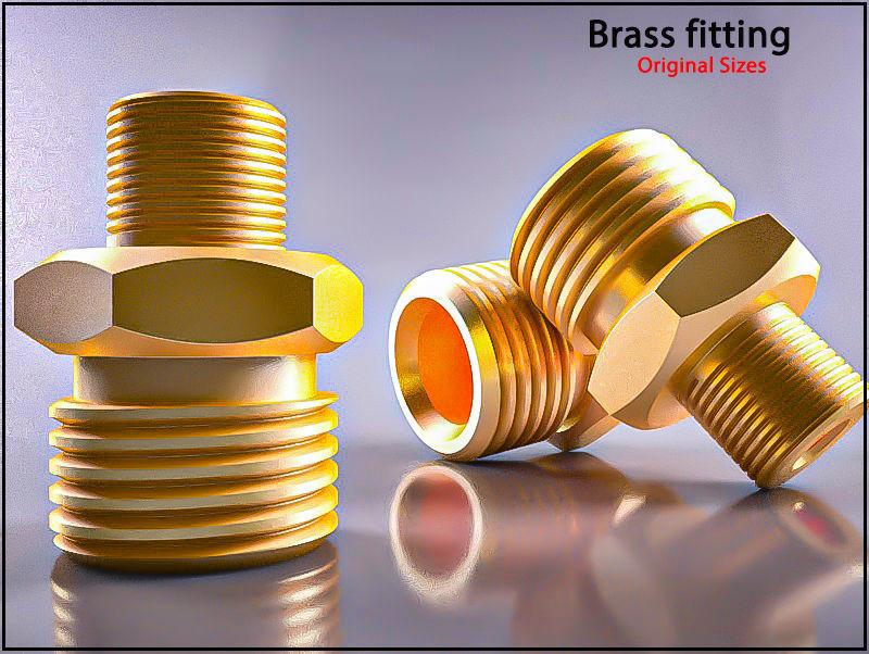 Original Size Brass fitting Nr 245 M17  Ready for print 3D model