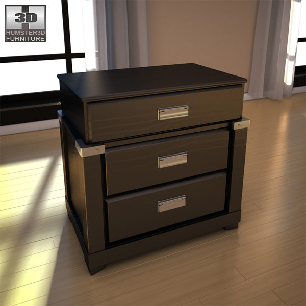 ... Ashley Diana Platform Bedroom Set 3d Model Max Obj 3ds Fbx Mtl 15 ...