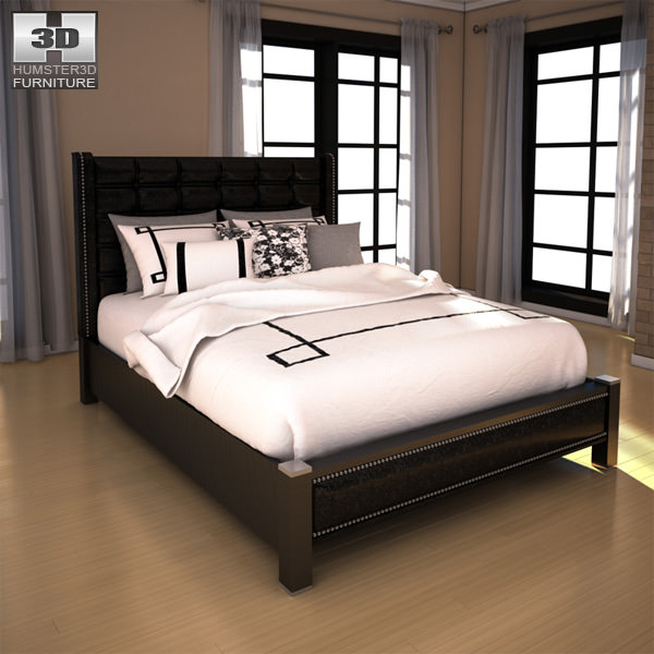 Ashley Diana Queen Upholstered Headboard Bed 3d Model Game