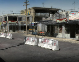 low-poly 25 afghanistan city buildings props for games 3d asset