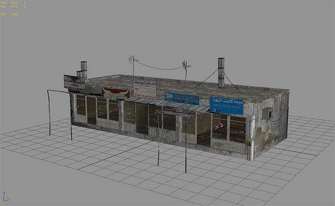3d model 25 afghanistan city buildings props for games vr ar low poly max obj 3ds fbx dae. Black Bedroom Furniture Sets. Home Design Ideas
