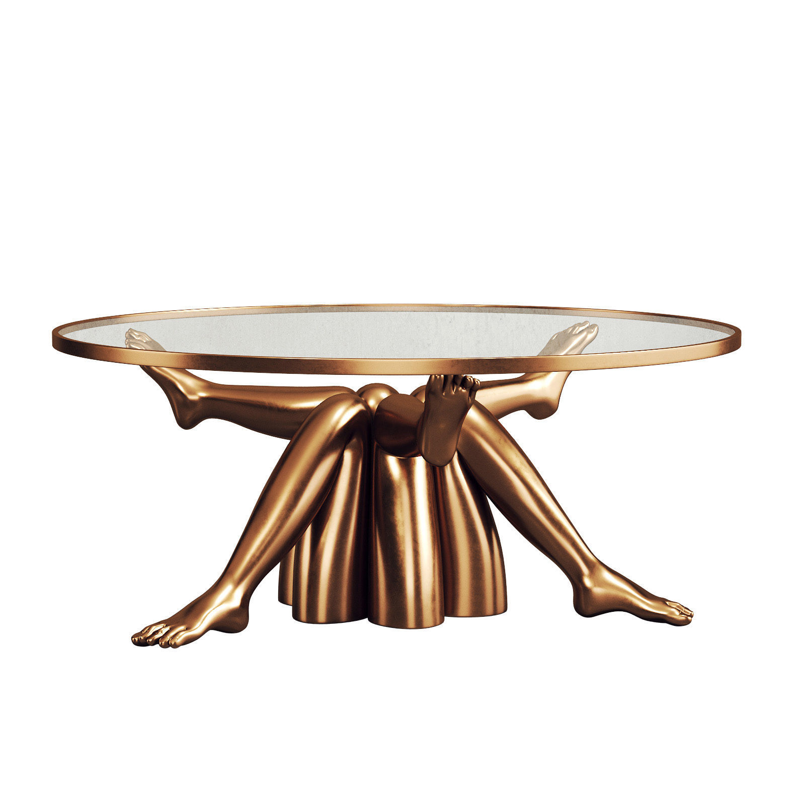 Stylish Golden Coffee Table 102