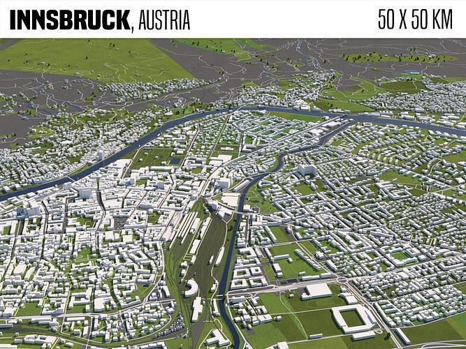 Innsbruck Austria 50x50km