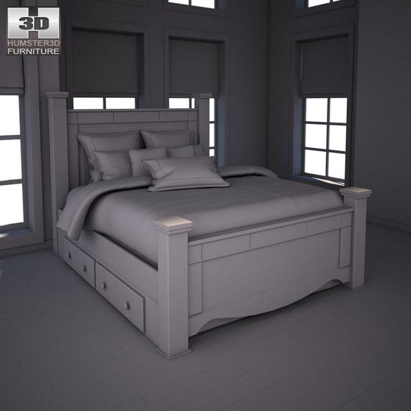 Shay Poster Bedroom Set Part - 18: ... Ashley Shay Poster Bedroom Set 3d Model Max Obj 3ds Fbx Mtl 4 ...