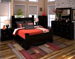 Ashley Shay Poster Bedroom Set 3D asset