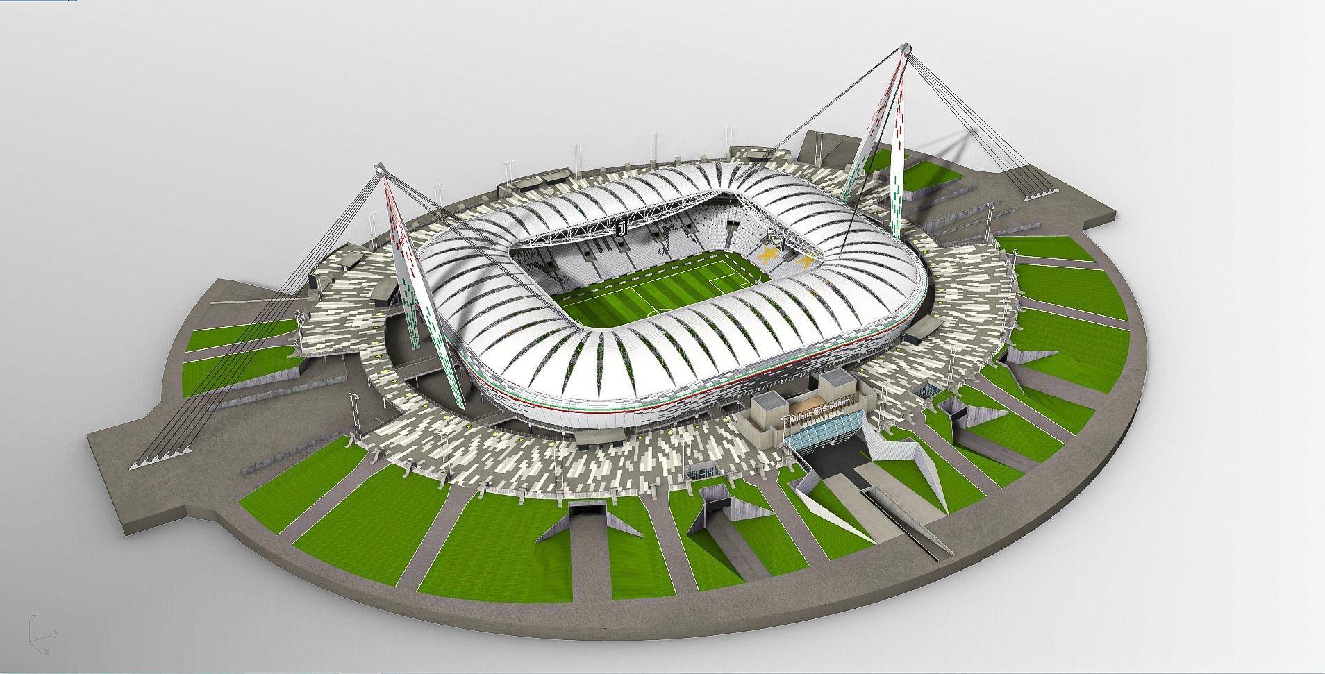 3d Allianz Stadium Juventus Cgtrader