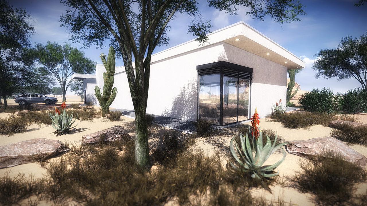3D model House 3 - Modern ity Villa V / / low-poly M OBJ ... - ^