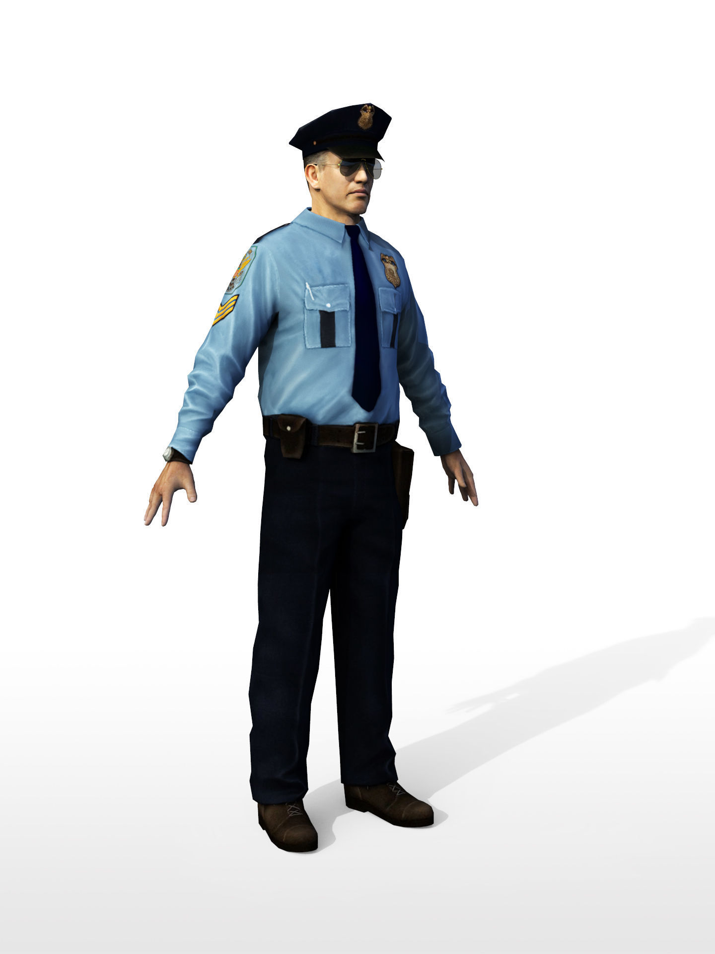 Policeman in sunglass Rigged Character