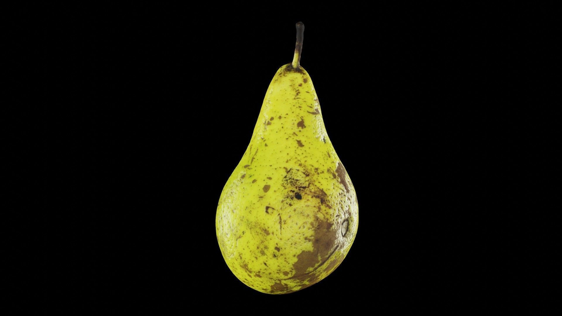 Ultra Realistic Pear scan 8K HD