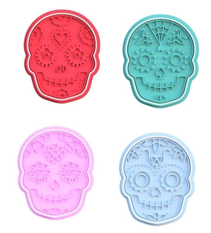 Day of the Dead cookie cutter set of 4