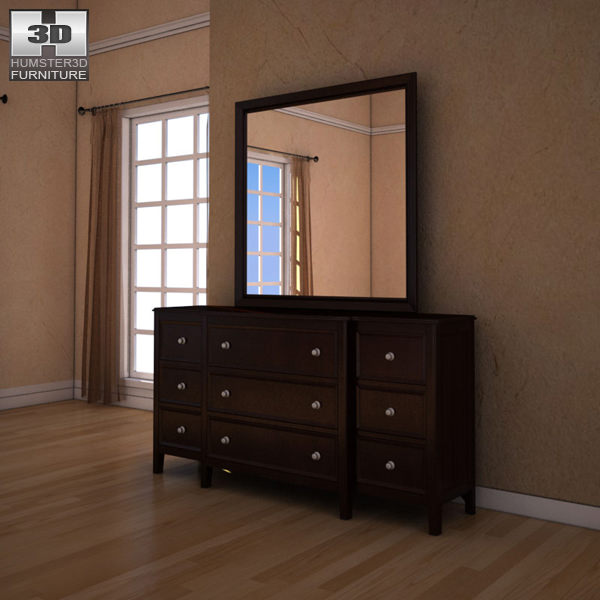 Ashley Carlyle Dresser Mirror Model Max Obj S Fbx Mtl 1
