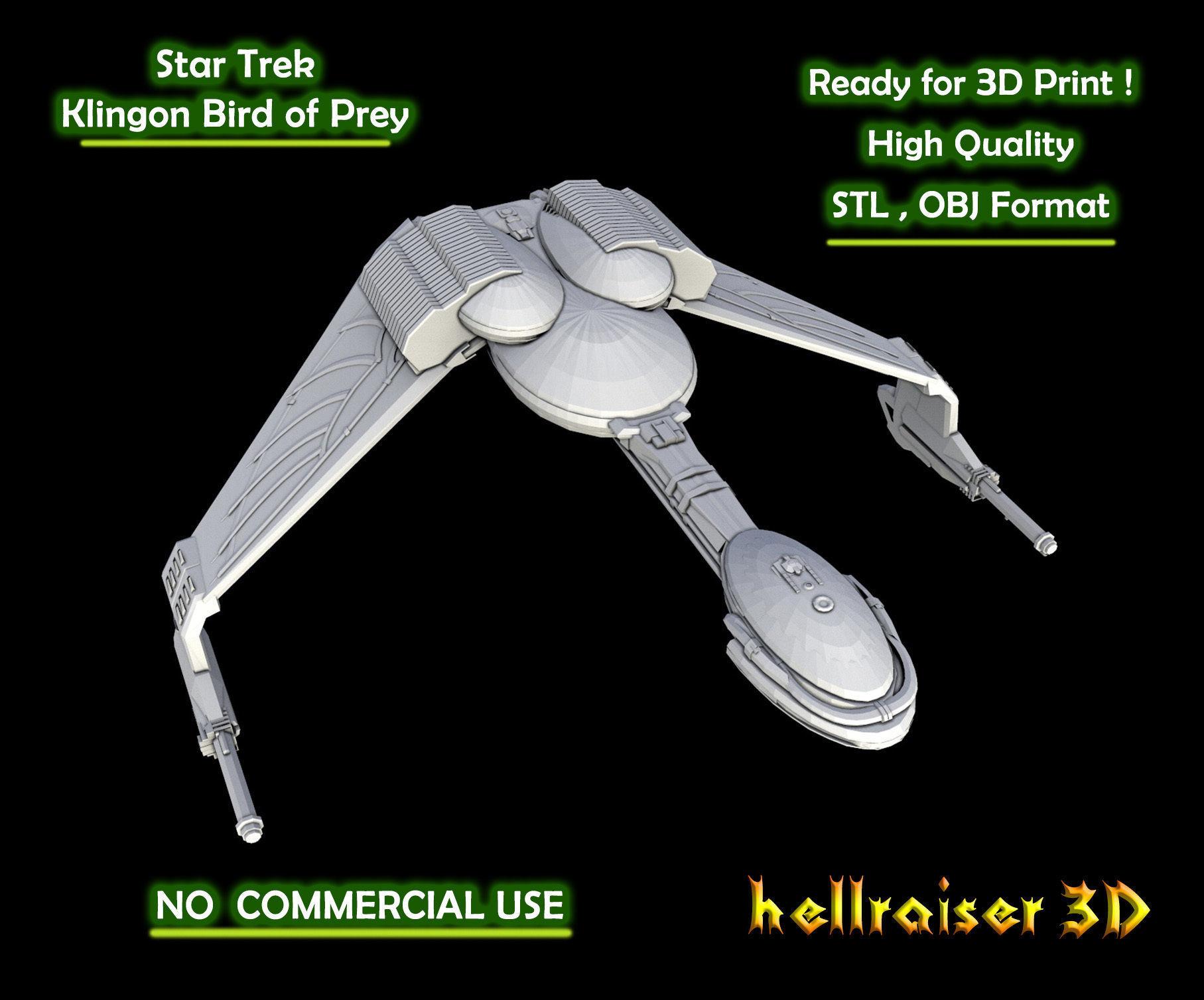 Star Trek - Klingon Bird of Prey - 3D Printable Model