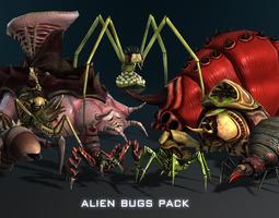 alien bugs pack 3d model max fbx