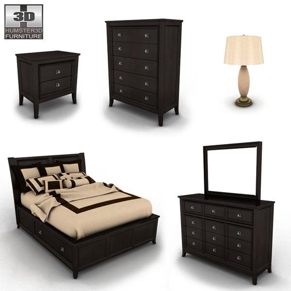 ashley martini suite storage bedroom set 3d model game